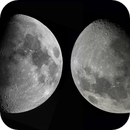 A comparison of Northern Hemisphere and Southern Hemisphere views of the Moon captured 18 hours apart,                                Niall MacNeill