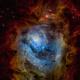 Messier 8 - Lagoon Nebula in Hubble Palette,                                andrealuna