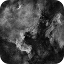 NGC7000, IC 5070_ DSLR Ha,                                Lensman57