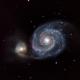 M51 (Whirlpool Galaxy) Ha LRGB,                                Jim McKee