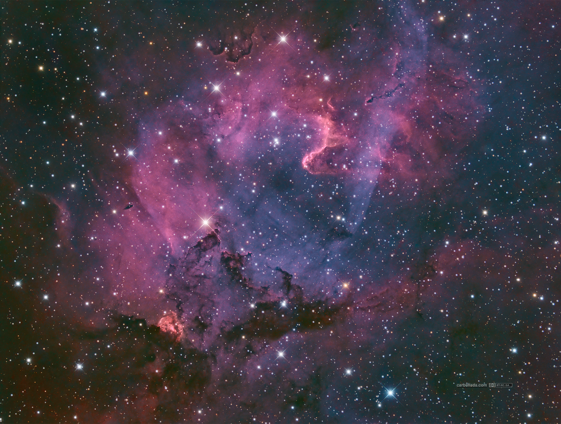 Dark Nebula LDN1161 in Hα-SII/OIII/OIII+rgb (Sh2-132 region),                                Jose Carballada