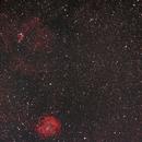 NGC 2244 und 2264 (Widefield als Balkon- Nebenprodukt),                                astrobrandy