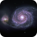 Whirlpool Galaxy with video showing how I did it,                                astrobiscuit