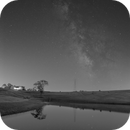 Wide Angle Milky Way Backyard Pond And Hay Bales,                                Brandon Tackett