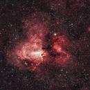 The galactic Swan M17,                                Johannes Bock