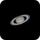 """Saturn in 4"""" f/10 refractor on June 30th 2019 at 1:23 German time (resized to 120%),                                Niklo"""