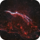 Western Veil Nebula in Bicolor over Bortle 8 skies - Lahore,                                subanday