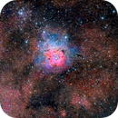 Trifid Nebula M20 and M21 Open Cluster Wide - my first RemoteSkies.net image! :-),                                Daniel Nobre