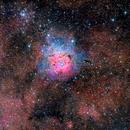 Trifid Nebula M20 and M21 Open Cluster Wide - my first RemoteSkies.net image! :-),                                Daniel Nobre