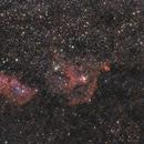 Neubearbeitung 7 LRGB Version von Herz-Nebel NGC 896 und Seelen-Nebel IC 1848,                                Matthias Groß