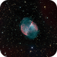 Messier 27 - The Dumbbell Nebula in HaRGB,                                Kevin Dixon