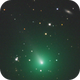 Comet C/2019 Y4 (ATLAS)  and a faint spiral galaxy,                                physics5mickey