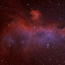 Sharpless in Monoceros - The Seagull Nebula [Sh2_292, Sh2_296, Sh2_297] in HOO,                                G400
