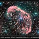 NGC 6888, Crescent Nebula, HαRRGB, 27 Jun 2014 + 27 Jul 2015,                                David Dearden