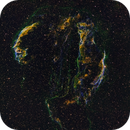 Cygnus Loop Supernova Remnant - Hubble Palette,                                Richard S. Wright...