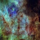 Closeup on NGC 6618 (HST),                                Oliver Czernetz