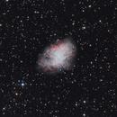 Crab Nebula (M1) in LRGB,                                Sergey Trudolyubov