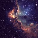NGC 7380 Wizard Nebula in SHO,                                Barczynski
