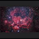 Bright nebula in Scorpius ( NGC 6357 ),                                Mike