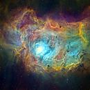 The Lagoon Nebula in SHO,                                Glenn C Newell