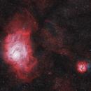 Lagoon & Trifid Nebula,                                SJ Richard