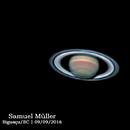 Saturn on Celestron C6 - IR742+RGB,                                Samuel Müller