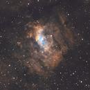 Bubble Nebula, Lobster Claw Nebula, M52 - Wide Field in SHO,                                nerdybeardo