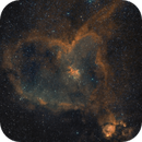 The Heart Nebula: OSC w/ Dual Band Pass Hubble Style Processing,                                John Michael Bellisario