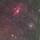 Bubble (NGC7635) with M-52,                                Bert Seltzer