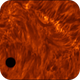 Mercury above plasma sea (transit in h-alpha 09.05.2016),                                Łukasz Sujka