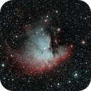 NGC 281 Pacman Nebula in Ha and OIII,                                Valts Treibergs
