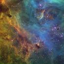 IC2944, Running Chicken Nebula Close-up,                                John Ebersole