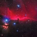 IC 434 - Horsehead Nebula / NGC 2024 - Flame Nebula,                                CrestwoodSky