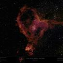 """IC 1805 - Sh2-190 - Melotte 15 - Heart Nebula - """"wider"""" view,                                Uwe Deutermann"""