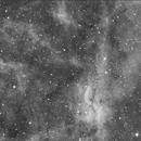 Propeller Nebula - Simeis 57 @200mm Focal length H-Alpha,                                Oliver