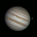Animation : Ganymede slides behind Jupiter,                                nzv