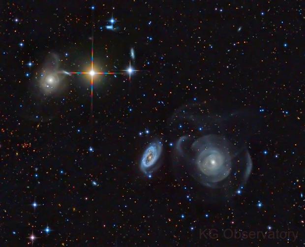 NGC 467, 470 and 474,                                KuriousGeorge