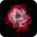Rosette Nebula in Narrowband with HOO Palette,                                gmvtex