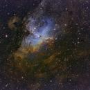 M16 in Hubble pallette,                                Geoff