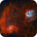 IC410 and IC405 - The Tadpoles and the Flaming Star,                                Jian Yuan Peng