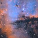 The heart of PACMAN - NGC281 in SHO,                                Arnaud Peel