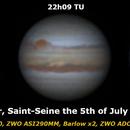 Jupiter Saint Seine 5th July 2019,                                David6813