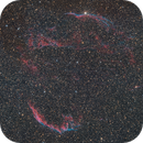 """NGC 6960, NGC 6992 et al. - The Veil Nebula,                                Sebastian """"BastiH..."""