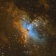 M16 Hubble Palette,                                Thomas