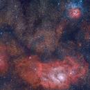 Trifid Nebula & Lagoon Nebula (Two Panel Mosaic),                                Rathi Banerjee