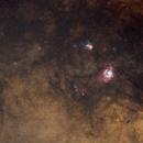 Lagoon & Trifid Nebulae Widefield,                                Ahmed Waddah
