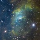 NGC 7635 The Bubble Nebula SHO,                                Ron Stanley