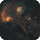 The Flaming Star Nebula in H-Alpha - 2 Hrs at F2.5,                                Andrew Marjama