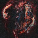 Veil Nebula mosaic - Ha/OIII bi-colour with RGB stars,                                Rick Stevenson