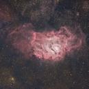 M8 Lagoon Nebula and Surrounding Hydrogen Cloud Ha+OSC RASA8,                                Brandon Tackett
